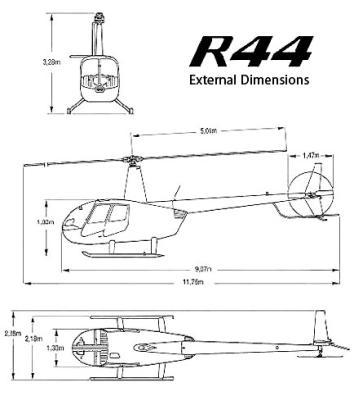hubschrauber robinson r44 technische daten abmessungen