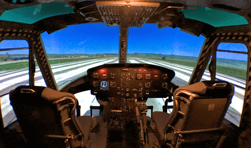 Helicopter simulator flight Munich Heli Fly yourself