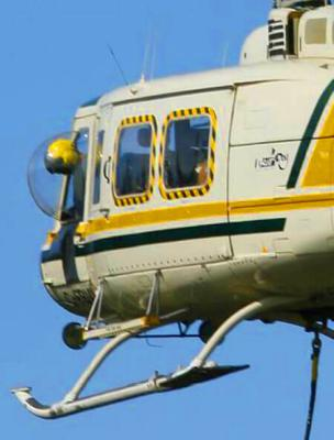 hubschrauber arbeitsflug bell helicopter bubble windows