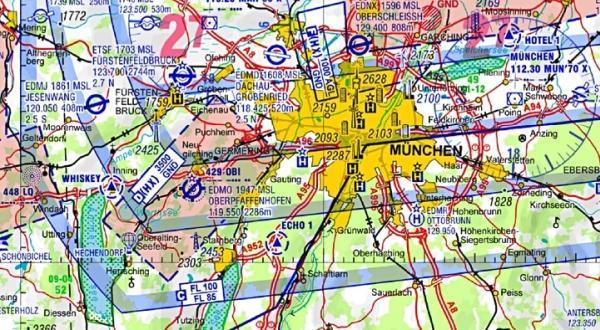 ICAO Karte Muenchen 2011 Hubschrauber blog