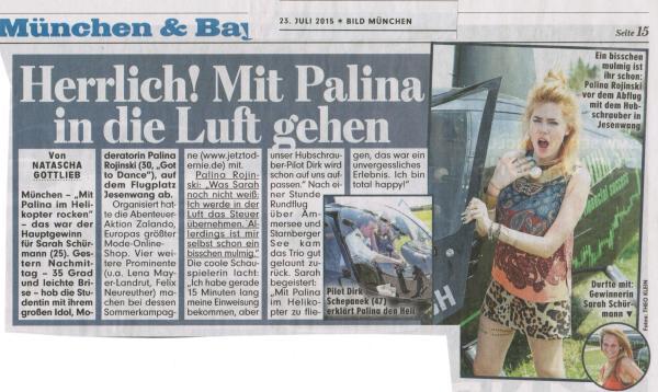Palina Rojinski Hubschrauber Dirk jetzt oder nie